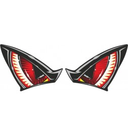 OneDesign Flat Label Red Eyes
