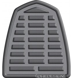OneDesign 'Soft-Touch' Tankpad Leather Style Grey 2